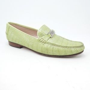 Escada Shoes - Escada Hand Sewn Pearlescent Green Moccasin Loafer